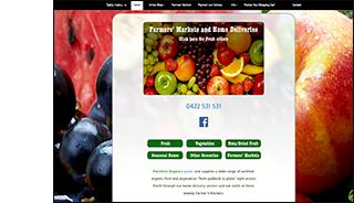 freshline organics website design