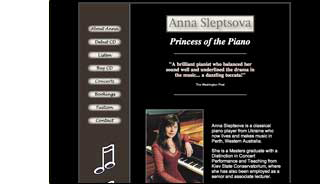 classical pianist website design