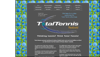 total tennis website design